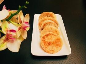 糯米蛋黄芝麻饼