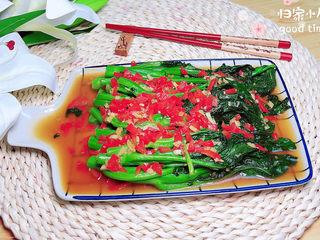 蚝油芥兰,一盘营养丰富的耗油芥兰就上桌了!