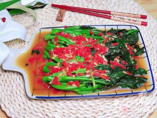 蚝油芥兰,红绿搭配,很有食欲哦!
