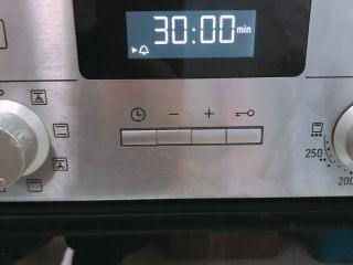 红丝绒蛋糕,130度30分钟再转150度30分钟