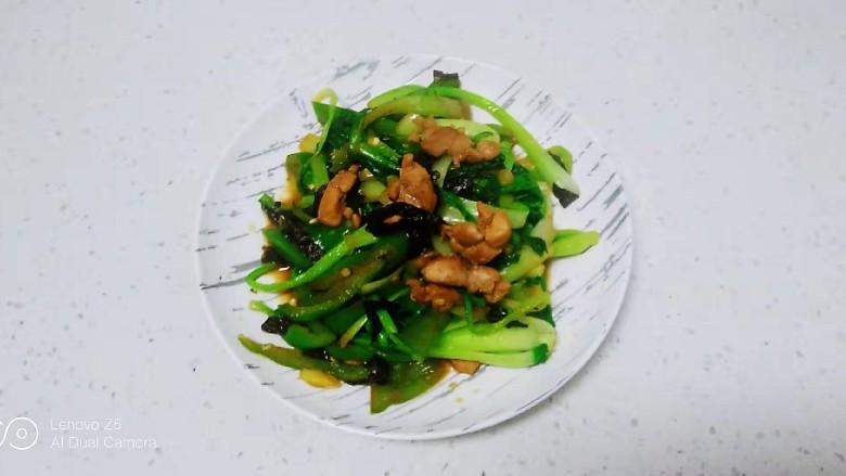 猪肉炒尖椒、上海青