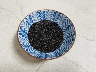 黑米红豆粥,黑米