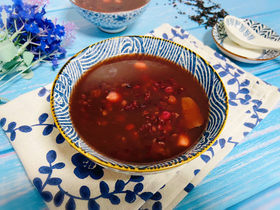 黑米红豆粥