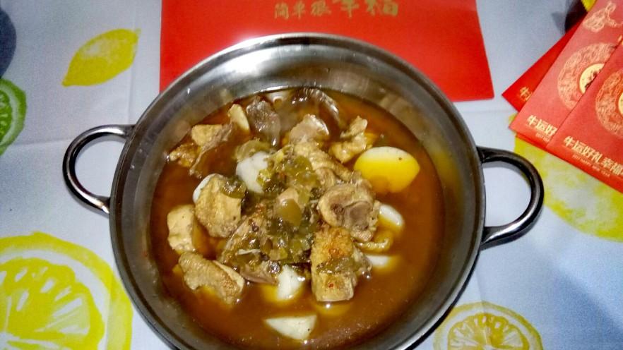 酸菜芋圓雞