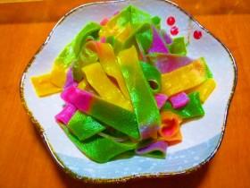 春节彩虹面片