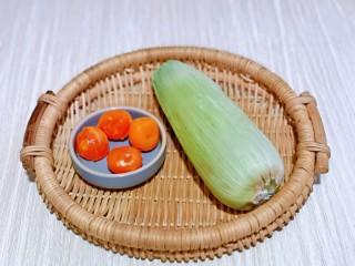 蛋黄焗玉米,准备食材,量可以根据需要增减。
