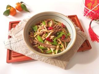 杏鲍菇炒牛肉,特别下饭。