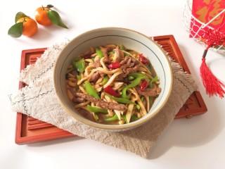 杏鲍菇炒牛肉,宝贝说连汤汁都那么好吃。