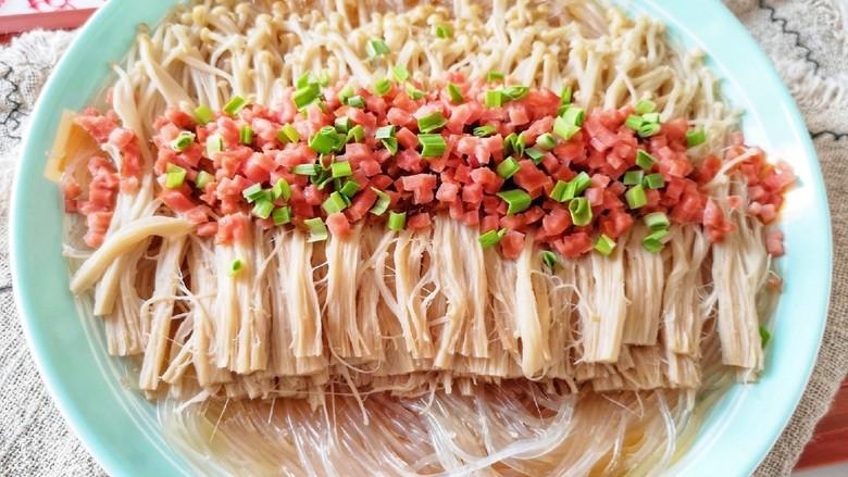 粉丝蒸金针菇,看大图。