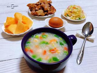 蔬菜虾仁粥,特殊时期就要健康的吃好每一餐