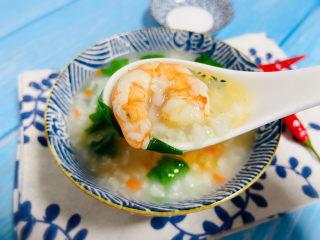 蔬菜虾仁粥,香气四溢、味道鲜美