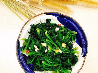 蒜末炒菠菜