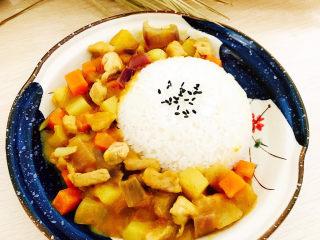 咖喱饭🍛,成品图。