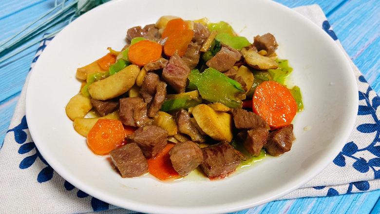 杏鲍菇炒牛肉,营养丰富的杏鲍菇炒牛肉