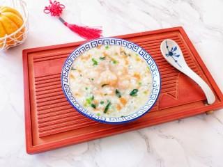 蔬菜虾仁粥,特别香。