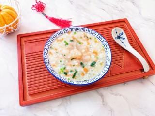 蔬菜虾仁粥,营养又好吃。