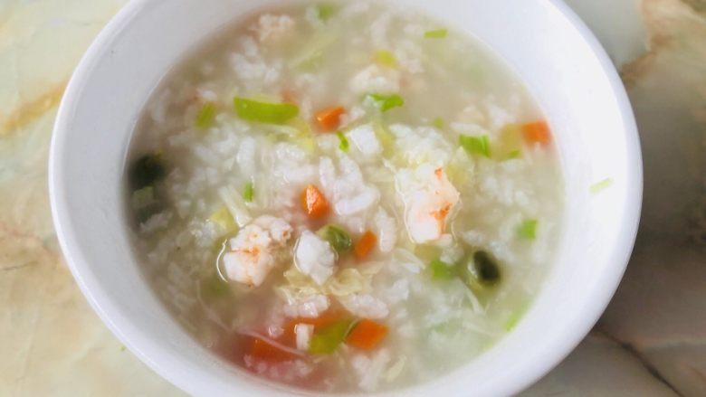 蔬菜虾仁粥(2-3人份)
