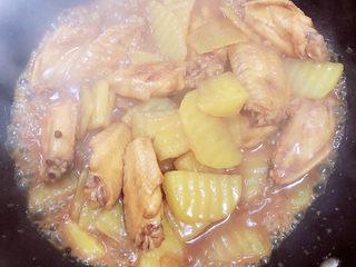 薯片鸡翅,大约炖煮15分钟,收汁出锅啦!