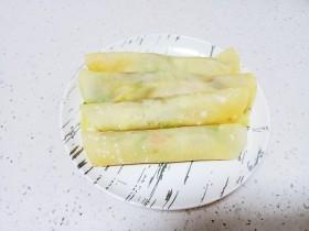 春饼卷葱爆羊肉、西葫芦