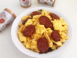 腊肠炒鸡蛋