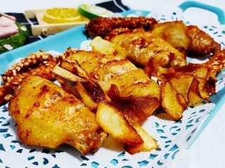薯片鸡翅,成品图
