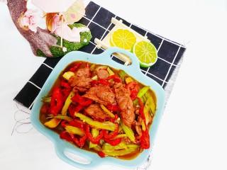 芹菜炒牛肉,成品图