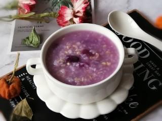 紫薯燕麦粥,出锅
