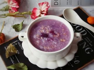 紫薯燕麦粥,美味早餐粥  凉凉即食