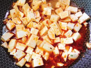 红烧豆腐,加入适量清水