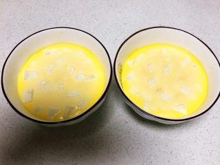 鸡蛋豆腐羹,鸡蛋豆腐蒸熟了