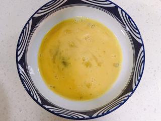 雞蛋玉米餅,雞蛋打散