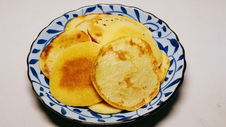 鸡蛋玉米饼,全部都做好了