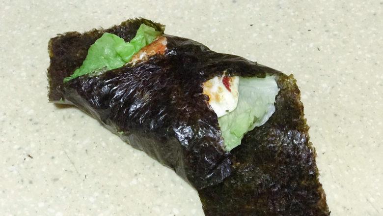 浅湘食光&海苔饭团,海苔裹紧