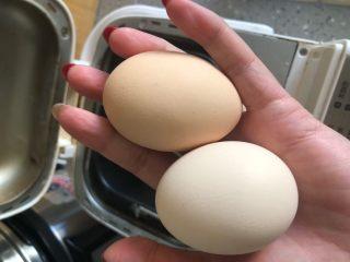 早餐面包,准备两个鸡蛋