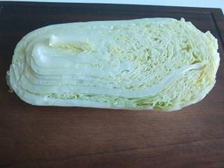 醋溜大白菜,大白菜半颗。