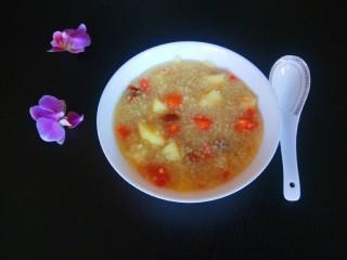 苹果小米粥,成品图