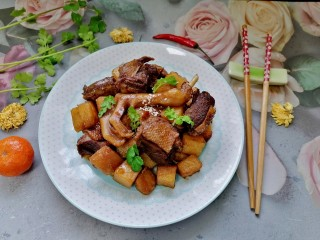 土豆炖鸭肉