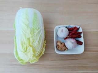 醋溜大白菜,挑选新鲜的小白菜。