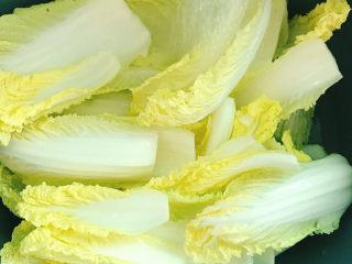 醋溜大白菜,一颗大白菜要吃好久,直接买一颗黄心白代替,口感更好