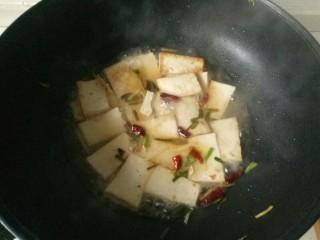 油菜豆腐,加入适量清水