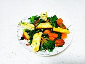豆腐、豆干炒菠菜