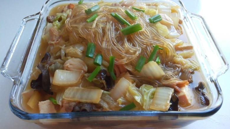 大白菜炖粉条,成品图