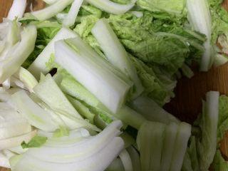 大白菜炖粉条,切