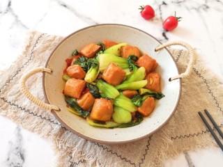 油菜豆腐,很好吃的下饭菜。