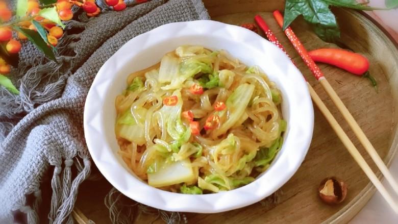 大白菜炖粉条,出锅