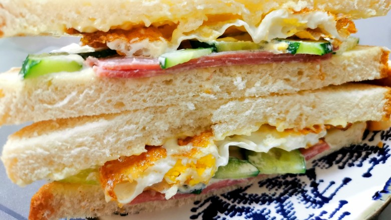 超快手三明治~十分钟就能搞定,开吃喽