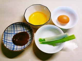 玉米渣煎饼,辅料 甜面酱 食用油 葱