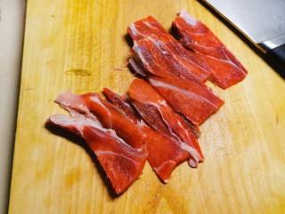 干煸牛肉絲,牛肉先切片狀