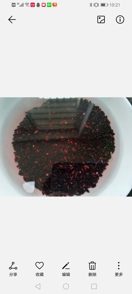 红枣黑米粥,<a style='color:red;display:inline-block;' href='/shicai/ 496'>黑米</a>提前淘洗浸泡一个上午