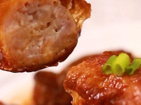 腐皮香干煎肉卷
